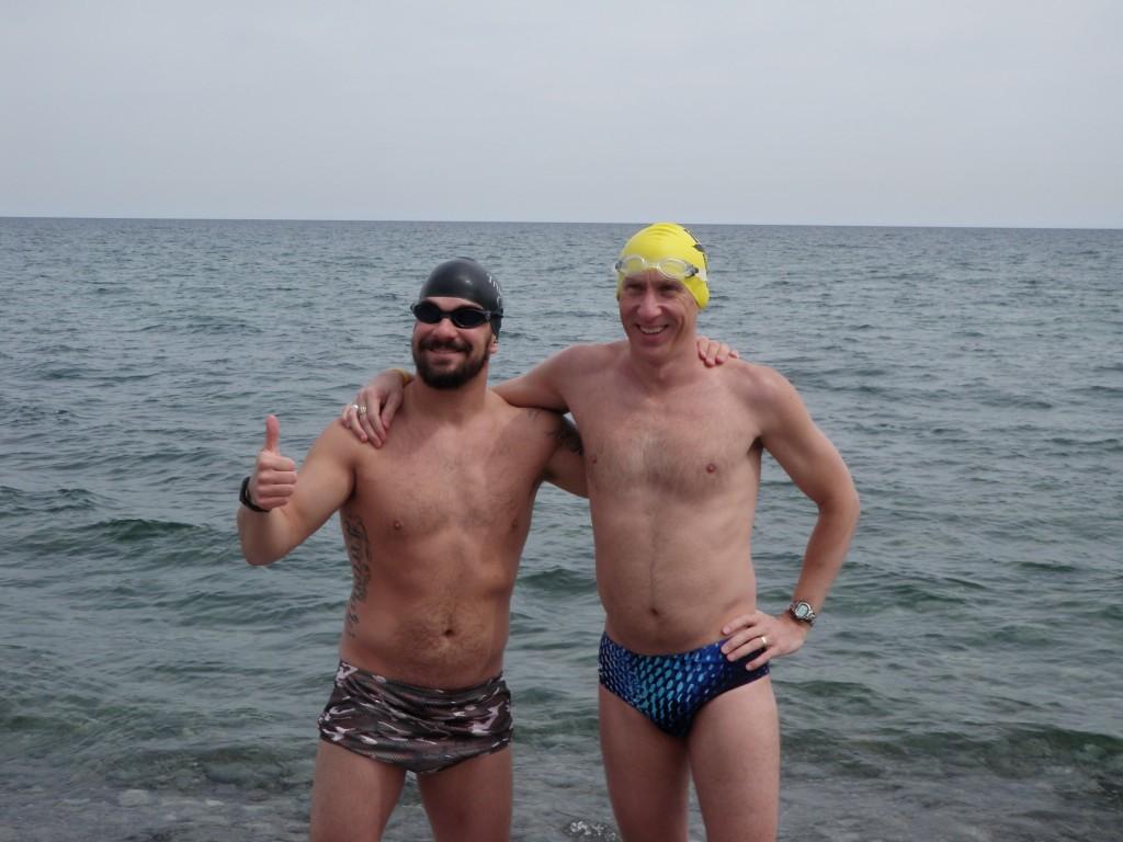 Darren Miller and Rob... April 28, 2012... 46F / 7C!
