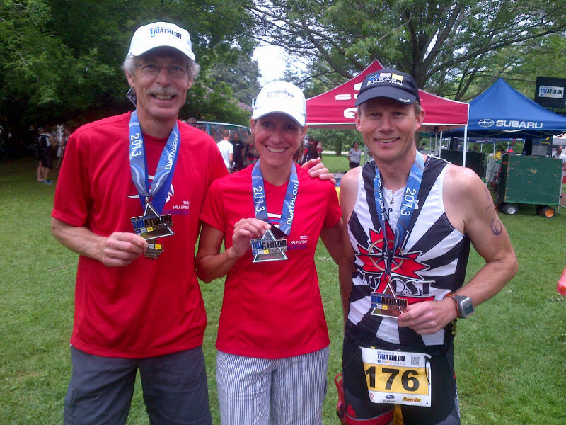 The medalists in their age groups!!!  Bruce-gold, Joanne-silver, Brett-bronze!!!