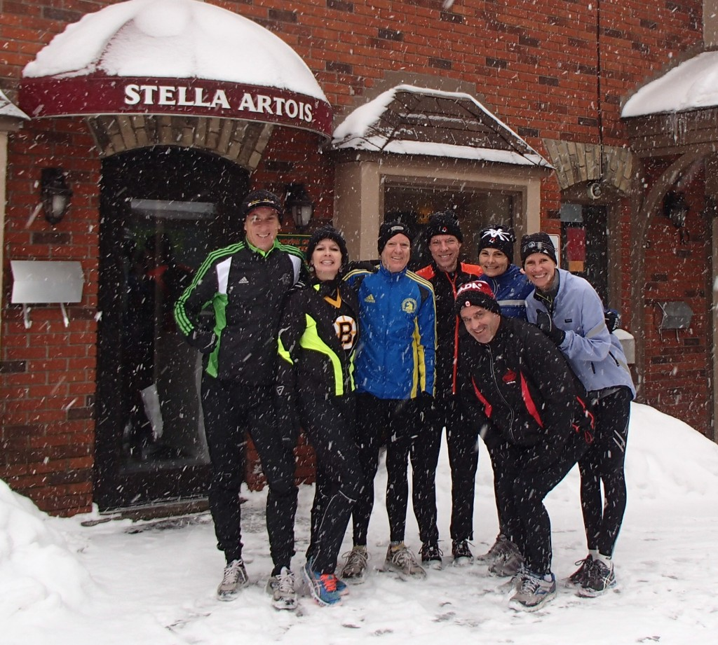 The 4th Annual Oakville Pub Run... a small start, but we pick up more along the way!